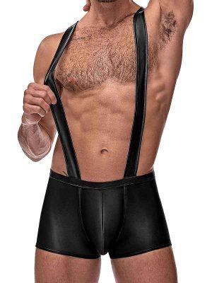 mens sexy black singlet