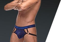 mens erotic underwear mesh navy