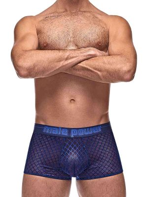 Mens sexy mesh navy boxer brief underwear
