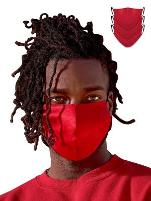 silk masks 3 pack in red
