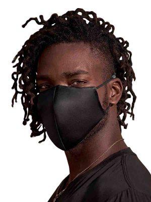 black silk face masks