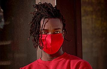 Silk Mask Red